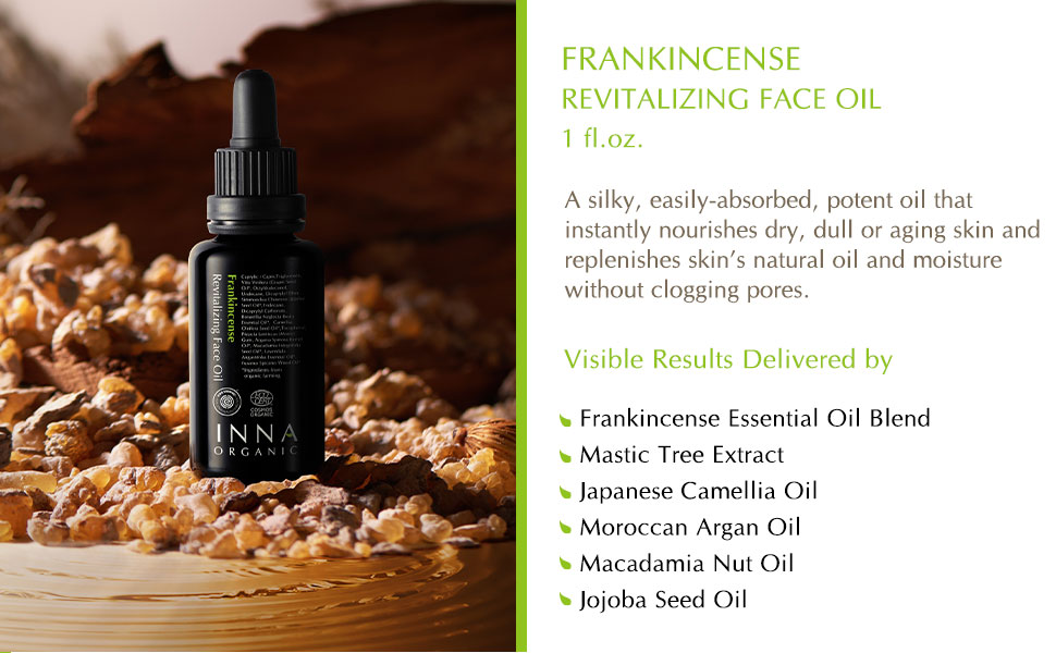 Frankincense essential oil face oil anti aging replenishing organic natural cruelty free