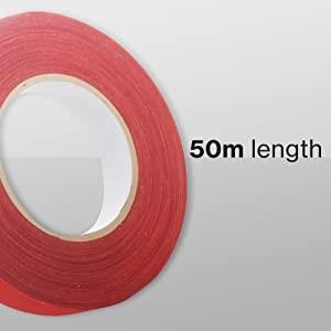Firetoys Cinta adhesiva aérea perfecta para Lyra, trapecio y otros equipos aéreos, 50 mx 2,5 cm