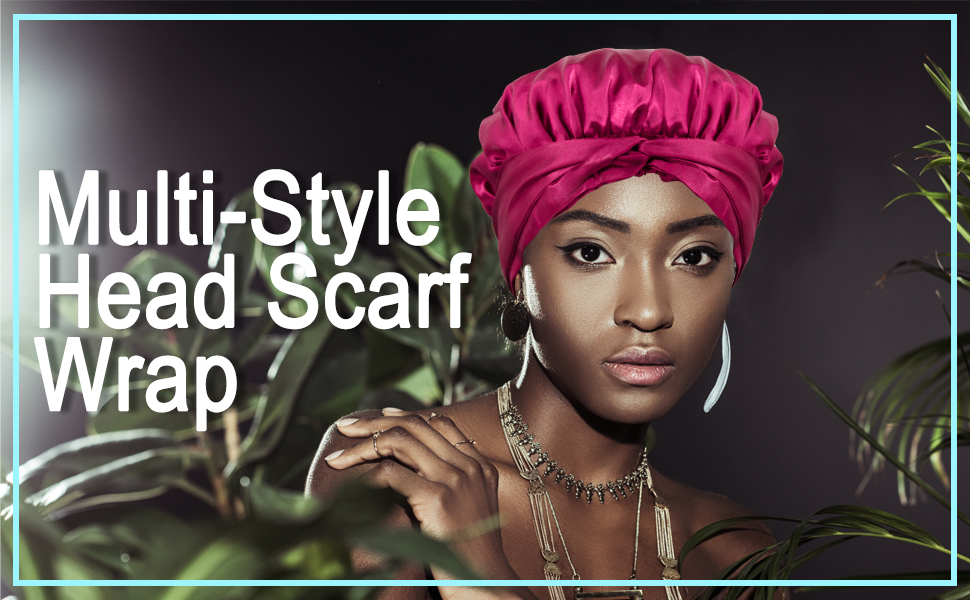The straps of head scarf wrap are long enough so that you can tie them in any style you like