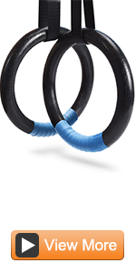 Gymnastic Rings with Adjustable Straps, Metal Buckles Home Gym