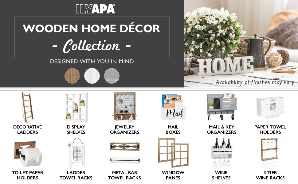 Ilyapa Wooden decor - Rustic farmhouse home decor ideas for kitchens, bathrooms, living rooms
