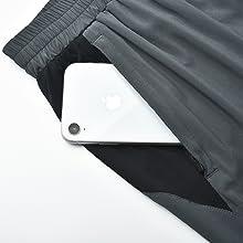 zip pockets active shorts