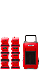 b-air, bluedri, commercial dehumidifier, industrial, water damage restoration