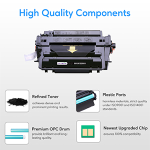 hp 55x 55a 255x 255a ce255x ce255a black toner cartridge m521dn black 1 pack