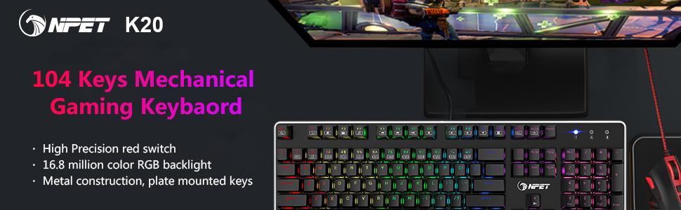 k20 mechanical gaming keyboard
