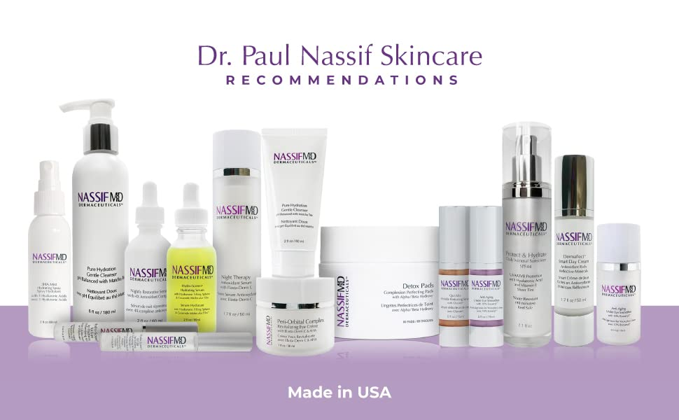 skincare products, NassifMD, Nassif Skincare, Face Products, professional beauty