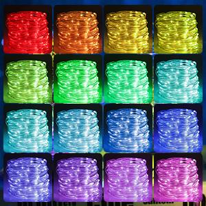 multi color string lights