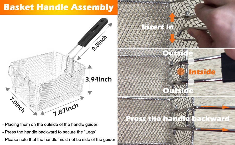 easy to assemble the basket  handle