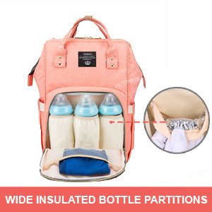 Insulated Milk bottle pocket of Motherly Diaper Bag