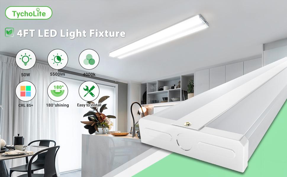 4 Foot LED Light Fixtures 4ft led light fixture led wraparound light 4ft light fixture led 4ft led