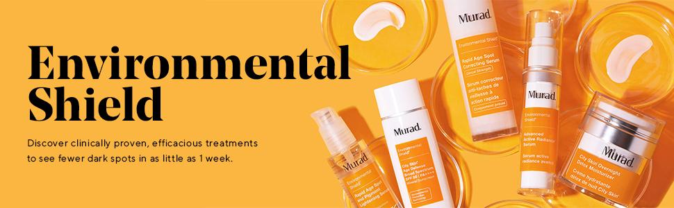 Murad Environmental Shield collection, brightening skin solutions