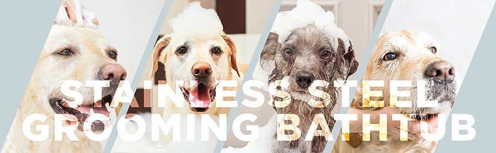 PawBest Dog Pet Stainless Steel Grooming Bathtub