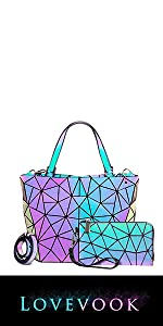Geometric Luminous Purses 2PCS