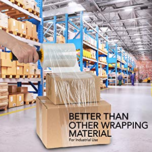 Industrial Clear Plastic Stretch Wrap Film for Pallet Wrap, Moving Supplies Stretch Wrap