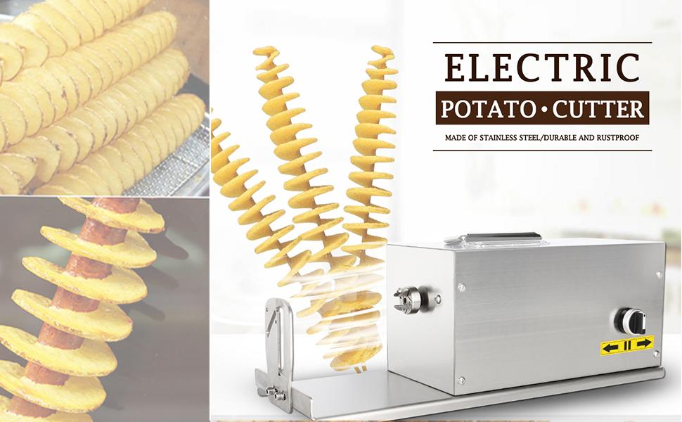Weiyiroty Cortador de Patatas en Espiral con Mango ergon/ómico Peras para Patatas 2 Tipos Diferentes de Cortador de Patatas para Patatas Fritas pepinos r/ábanos