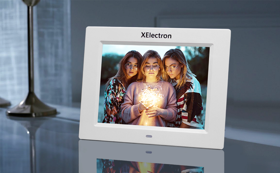 8 inch digital photo frame, white photo frame, dpf , DPF, Xelectron, gift, IPS screen, best