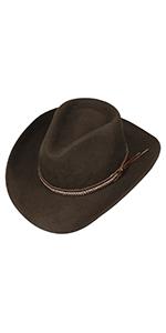 herren herrenhut westernhut cowboyhut western cowboy wasserabweisend filz filzhut