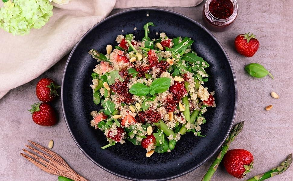 Reishunger Quinoa Integral Orgánica Blanca de Primera Calidad 3kg - Superfood de Perú - Fuente de proteínas y fibra sin gluten
