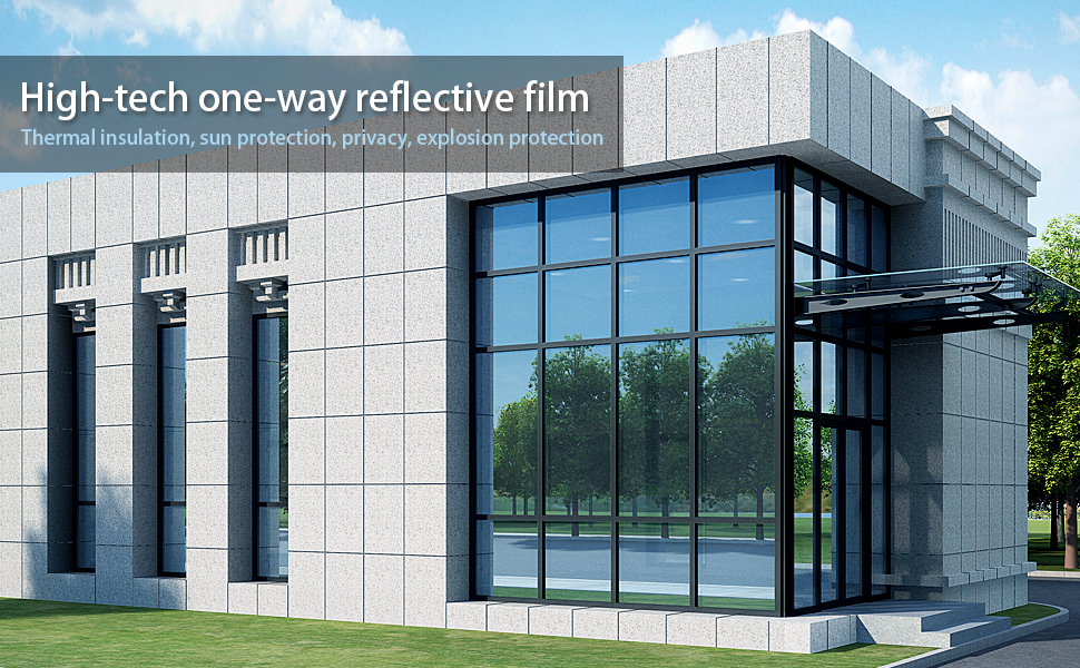 6m MIRROR SILVER 20/% X SOLAR REFLECTIVE WINDOW FILM ONE WAY PRIVACY TINT 50cm