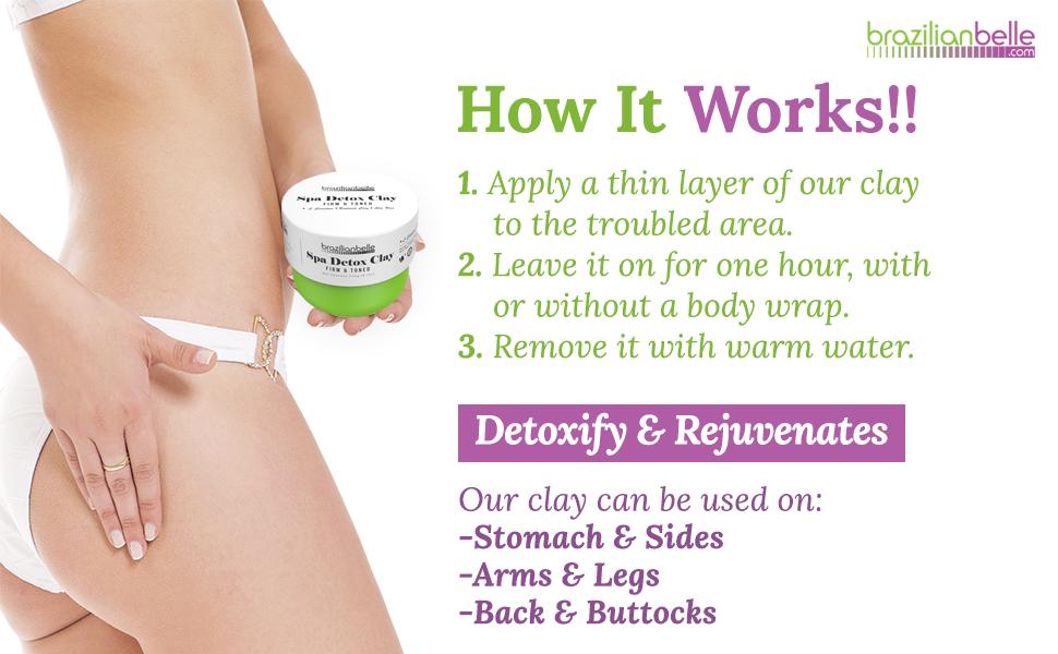 spa detox clay
