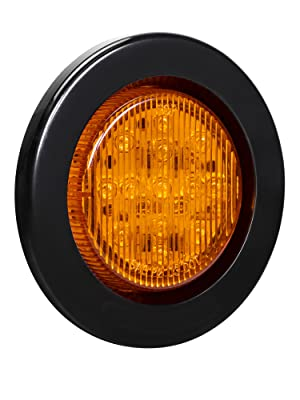 """4pc Amber 2.5"""" 13-LED Clearance Side Marker"""