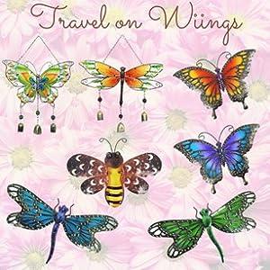 butterflies dragonflies spring wall hanger
