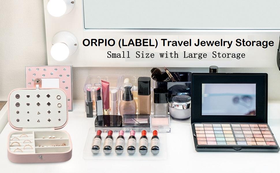 ORPIO Travel Jewelry Storage Box