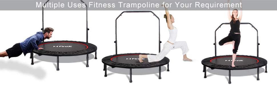 multiple use fitness trampoline