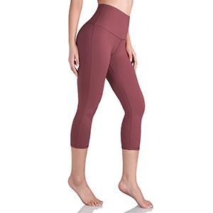 ODODOS High Waist Yoga Capris with Inner Pocket