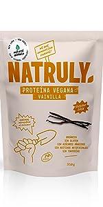 NATRULY Proteína Whey Frambuesa y Coco, 71% Proteína de Suero ...