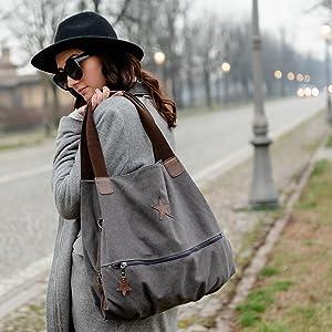 bianco Sac Bandouli/ère pour Femme Brakumi Mod/èle Italien Original avec /étoile