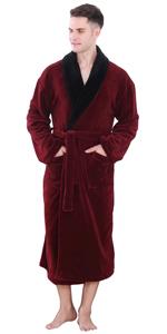 mens warm kimono robe