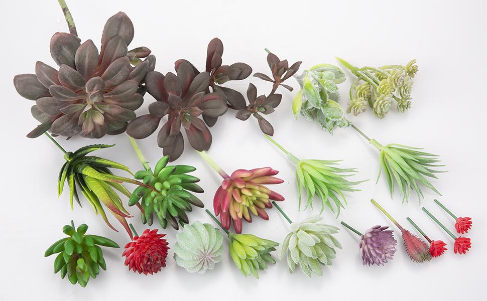 ZHOUBIN Artificial Succulent Plants