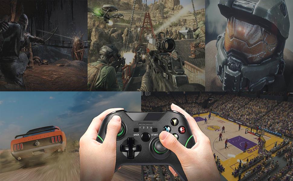 Manette sans fil Xbox, manette sans fil PS3, manette de jeu PC