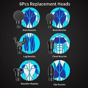 6 massage heads