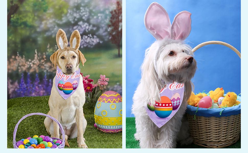 3 Pcs Easter Dog Bandanas