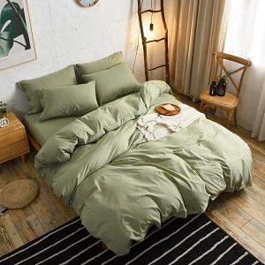 green duvet cover cotton