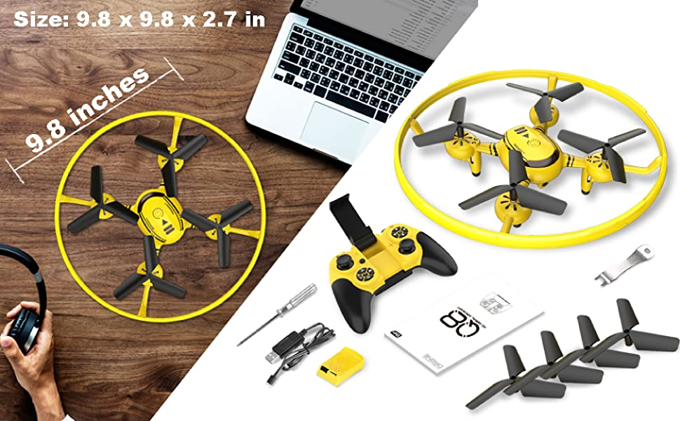 Flashandfocus.com b7d05ec9-6ee4-4a34-8632-3883cd2a37af.__CR0,0,4042,2500_PT0_SX970_V1___ HASAKEE Q8 FPV Drone with Camera for Kids Adults,RC Drones for Kids,Quadcopter with Yellow Light,Altitude Hold,Gravity…