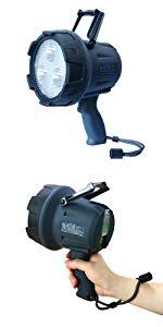 LEDサーチライト 充電式 15W 防水 強力 スポットライト 1500lm 900m遠距離照射 作業灯 探照灯 USBポート付