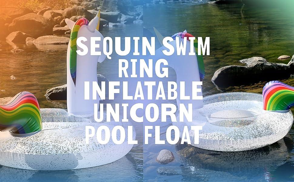 sequin swim ring