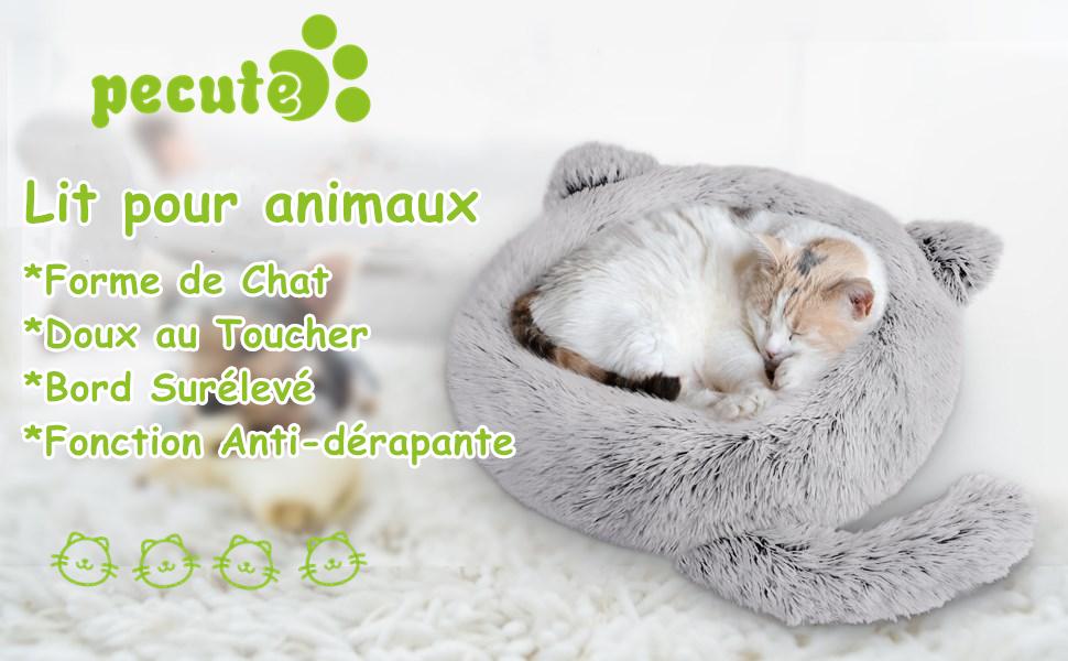 coussin chat doux et confortable