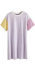 Colorblock Striped T-Shirt Dress