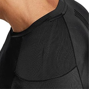 mesh side panels provide a breathable experience durlingh workouts