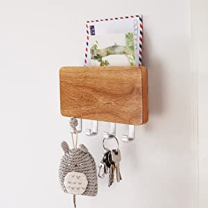 key holder for wall hooks mail organizer office modern document bill entryway file storage