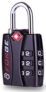 3 Dig Forge TSA Approved luggage locks suitcase, backpack, gym locker