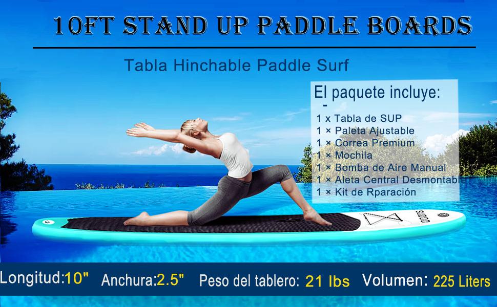 Triclicks Tabla Hinchable Paddle Surf/Sup Paddel Surf con ...