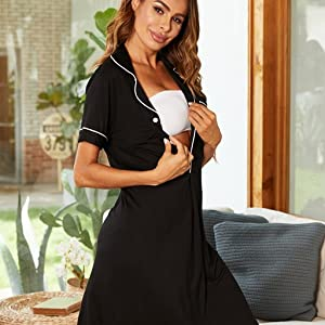 nursing gown for breastfeeding
