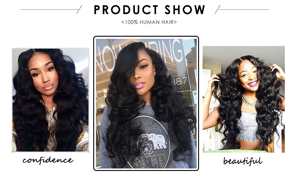 remy human hair bundles with closure