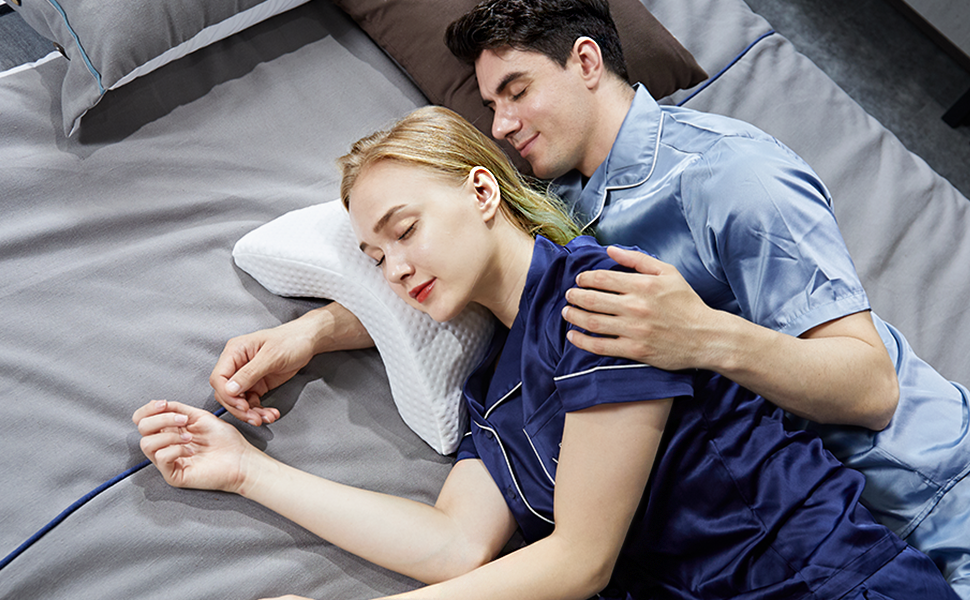 Arm Pillow Cuddle Pillow Couple Pillow Slow rebound pressure pillow for Adults Tunnel Pillow for arm
