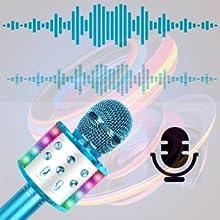 karaoke con microfono inalambrico